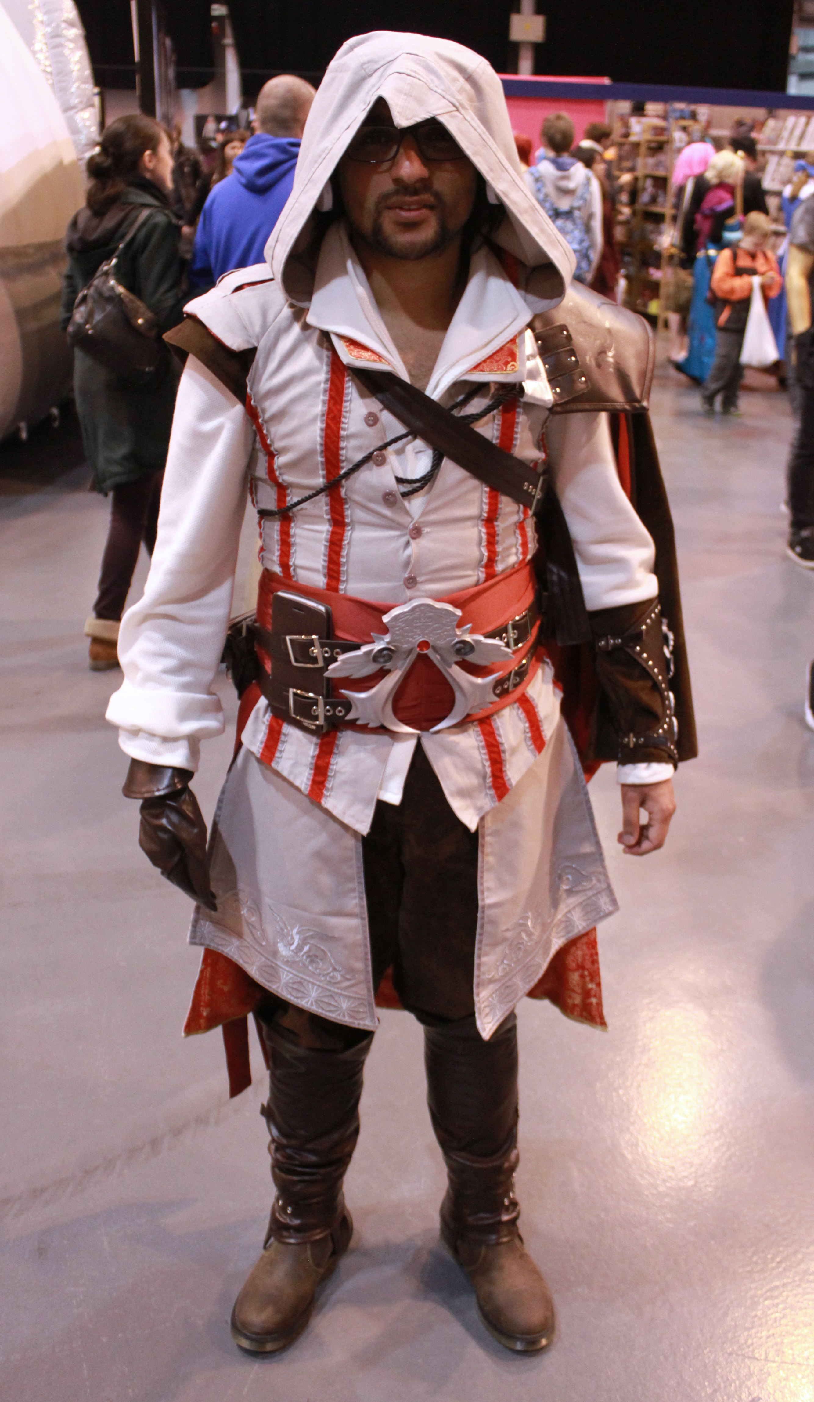 An assassin shows off his wears. MCM Midlands, Feb 2015
