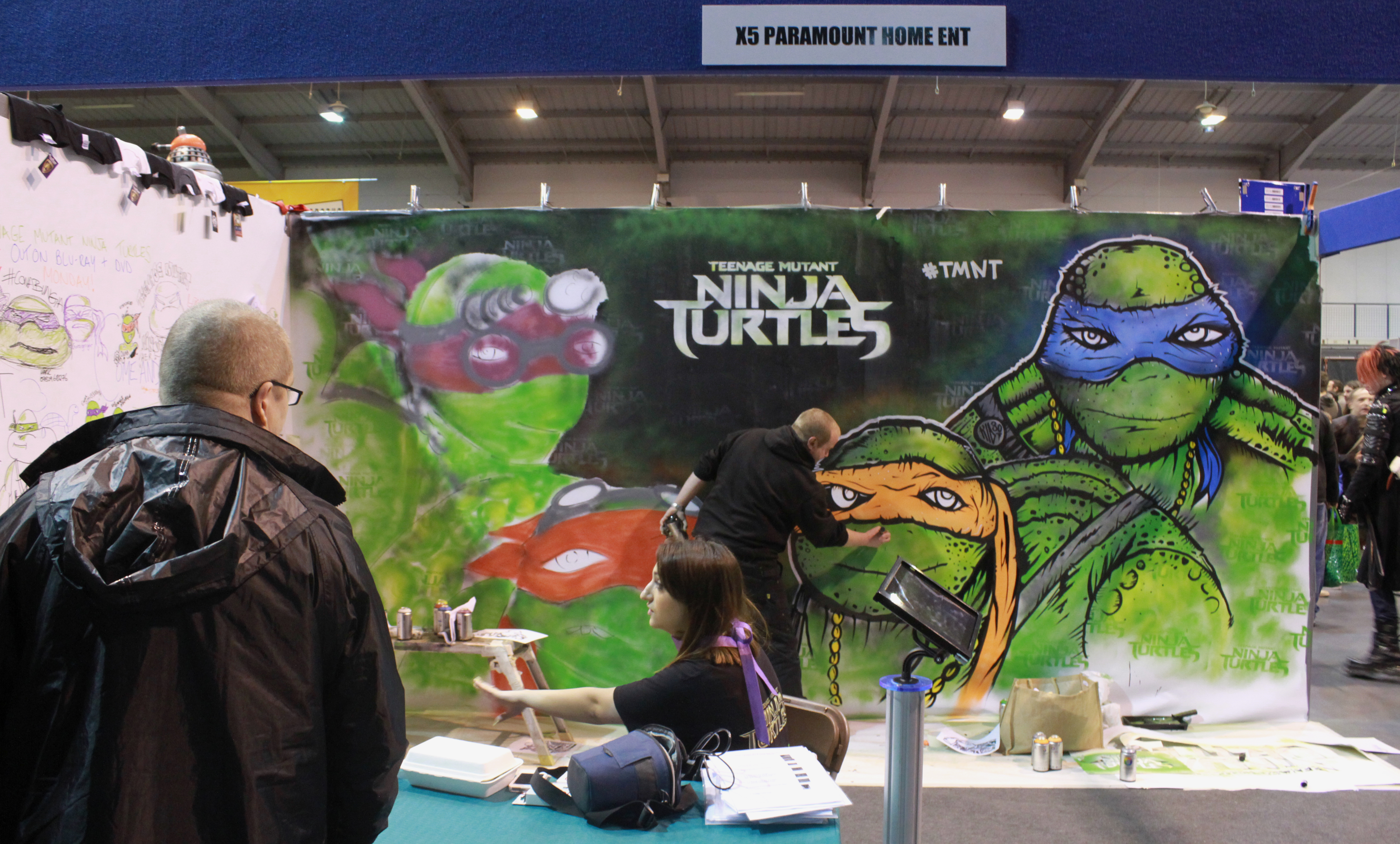 Kid30 doing his thing for TMNT. MCM Midlands, Feb 2015
