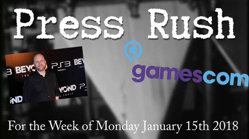 David Cage, Quantic Dream, and Gamescom 2018 | Press Rush Jan' 15 2018